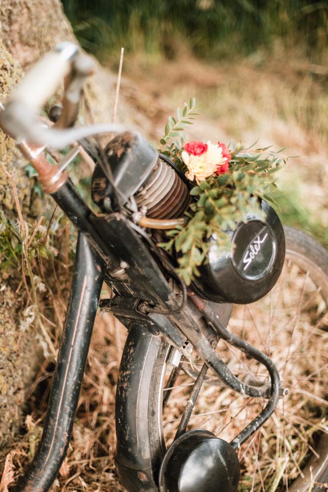 solex fleuri pour un mariage