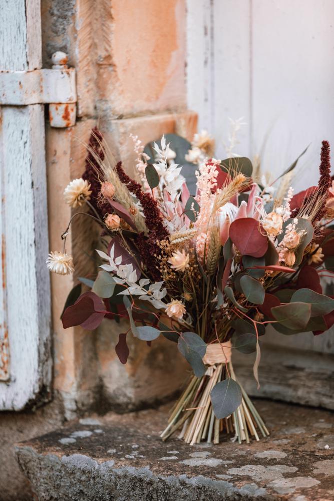 bouquet de mariée, photographe mariage en pays de loire