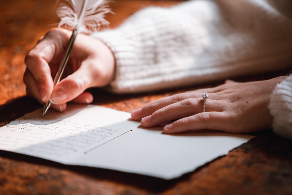 écriture des voeux mariage, photographe mariage
