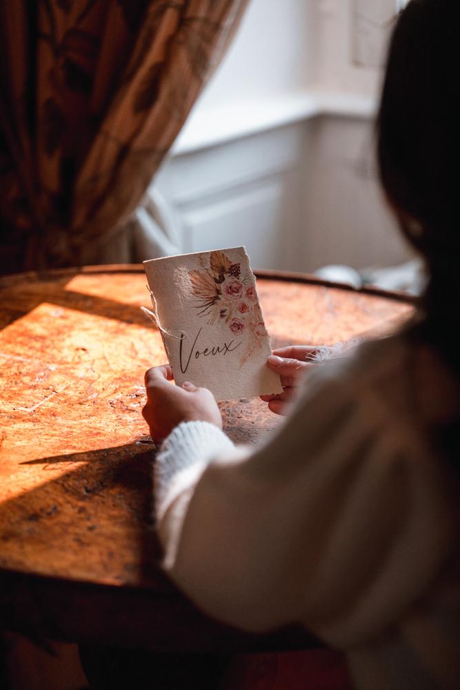 écriture des voeux mariage