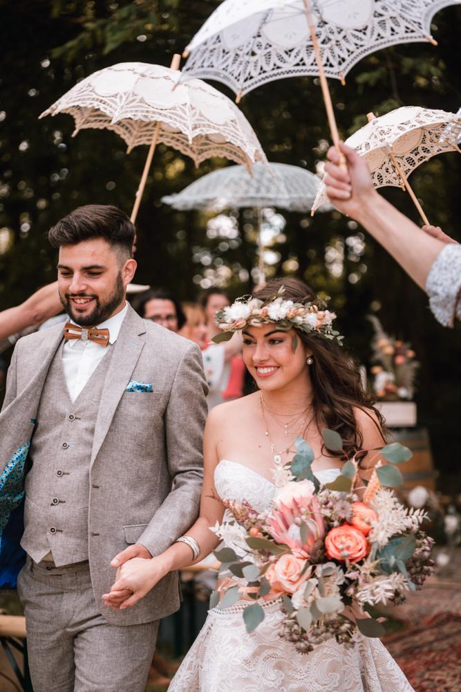 mariage, sortie de cérémonie